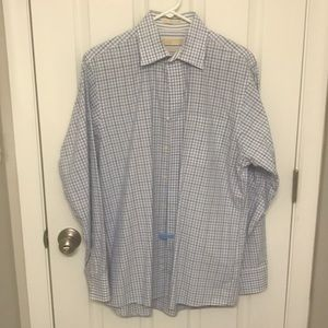Michael Kors Blue & White Shirt size L (16, 34/35)